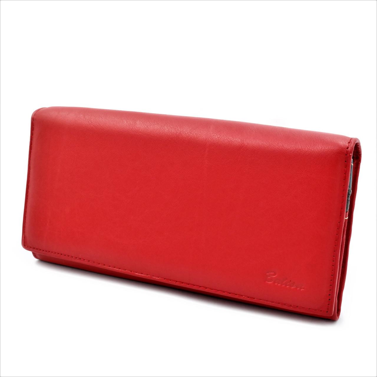 Женский кожаный кошелек Красный Кошелек премиум класса Современный качественный кошелек для девушки