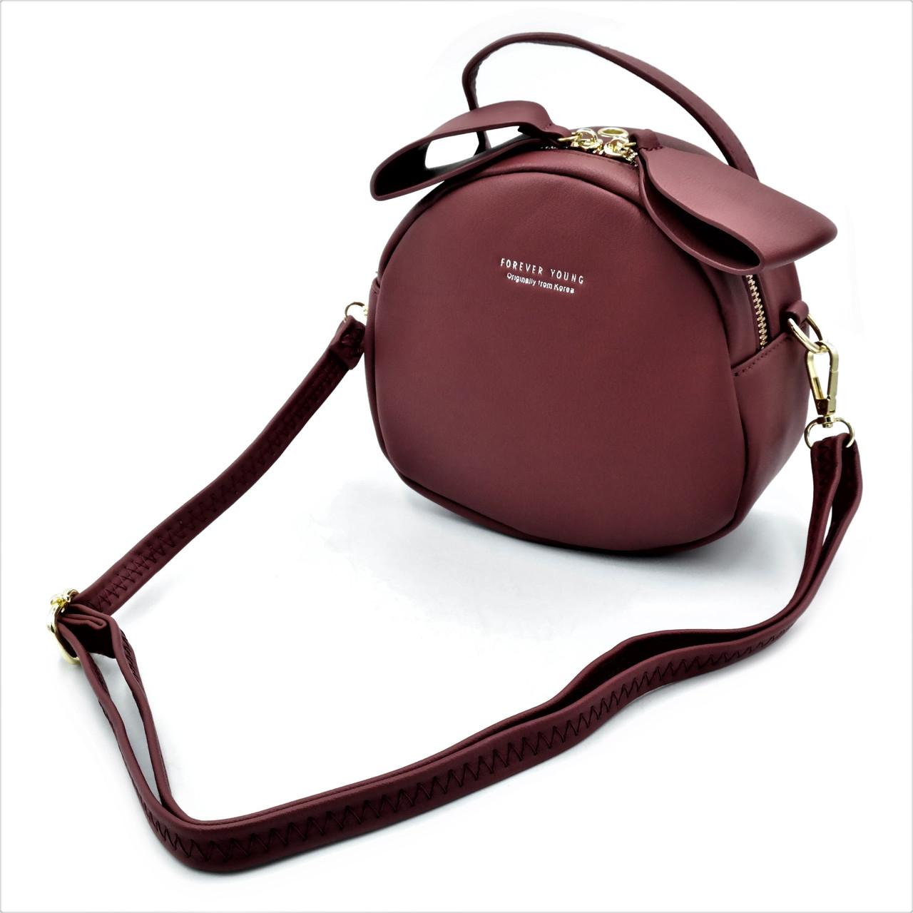 Женская сумка-кошелек цвет красный Качественная женская сумка из экокожи Сумка для женщин через плечо