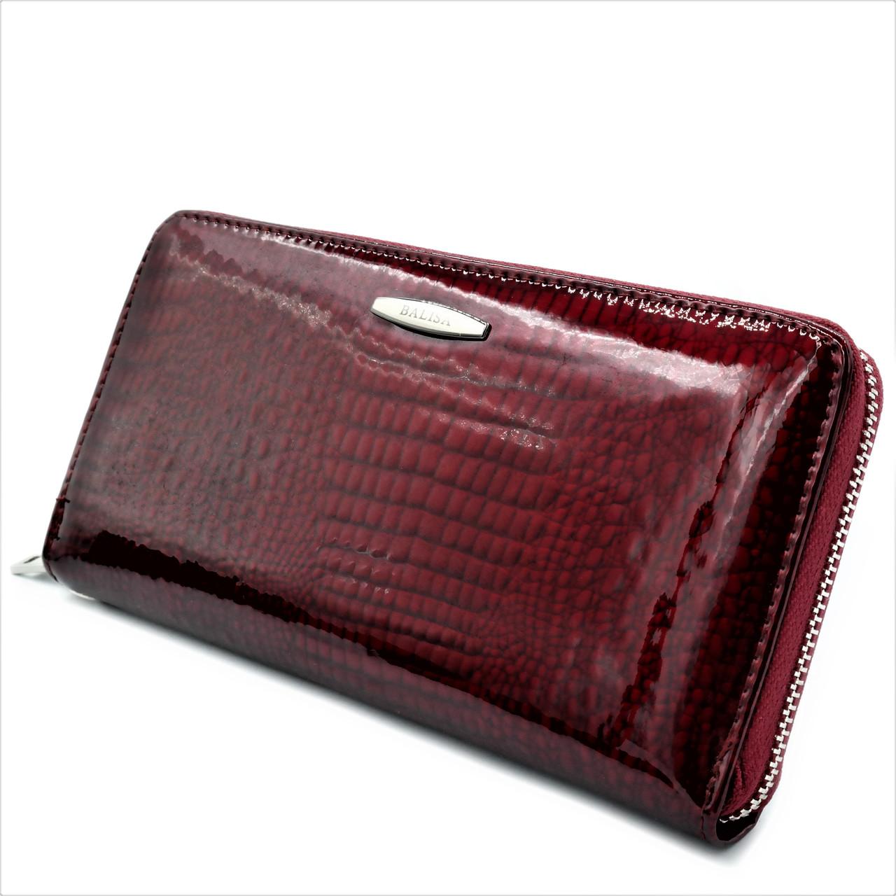Жіночий шкіряний гаманець Темно-червоний (Марсала) Гаманець преміум класу Сучасний якісний гаманець