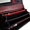 Женский кожаный кошелек Зелёный + Чёрный Удобный кошелек для девушки Женский кошелек портмоне из кожи, фото 5