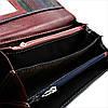 Женский кожаный кошелек Красный + Чёрный Удобный кошелек для девушки Женский кошелек портмоне из кожи, фото 5