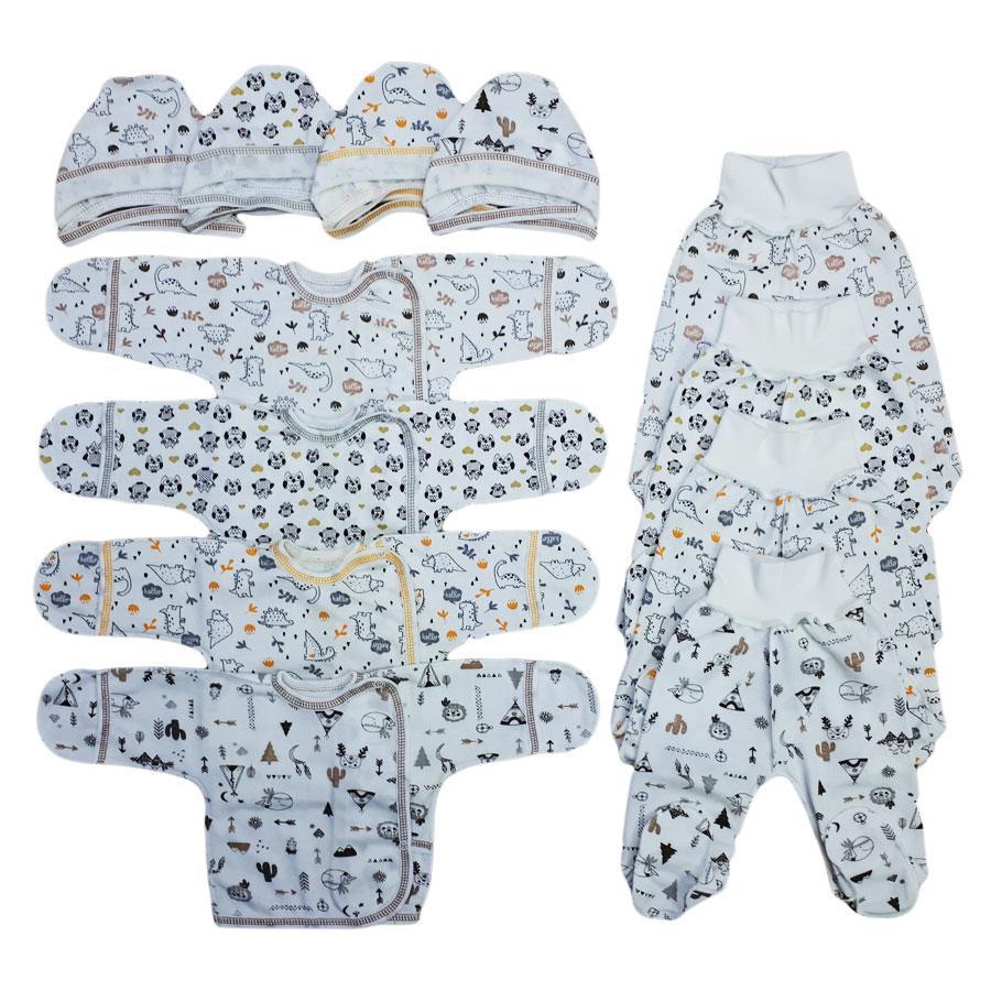 """Комплект для новонароджених """"Пінгвіни"""", на зростання 50-56 див. (з начосом)"""