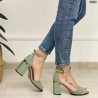 Босоножки зеленые 5861 (ВБ)