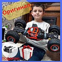 Машинка на пульте управления перевертыш (CИНИЙ, ЗЕЛЕНЫЙ)