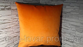 Наволочка декоративная 45х45 оранжевая