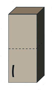 """Кухня """"Алина"""" верхний модуль 30В цвет - дуб Сонома / латте"""
