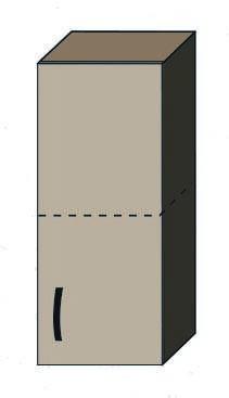 """Кухня """"Алина"""" верхний модуль 30В цвет - дуб Сонома / латте, фото 2"""