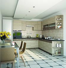 """Кухня """"Алина"""" верхний модуль 30В цвет - дуб Сонома / латте, фото 3"""