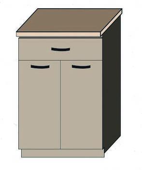 """Кухня """"Алина"""" нижний модуль 60Н цвет - дуб Сонома / латте, фото 2"""