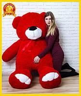 Большой плюшевый мишка 200 см Красный, Мишки 2 метра, подарок для девушки на день рождения