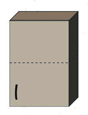 """Кухня """"Алина"""" верхний модуль 50В цвет - дуб Сонома / латте"""
