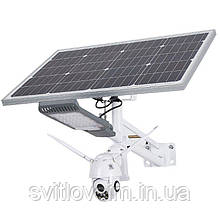Вуличний світильник з камерою на сонячних батареях