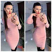 Жіноче плаття в смужку з люрексом в кольорах. АР-26-1018