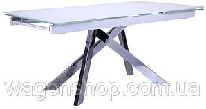 Стол обеденный раскладной Андалусия AMF хром/стекло белый