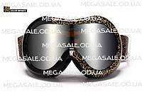 Маска горнолыжная/лыжные очки Nice Face 055 Золотые узоры