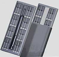 Отвертка с комплектом бит, отвертка в футляре с 48 битами