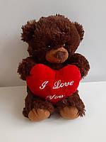 "М'яка іграшка ""Ведмедик з серцем I love you"""