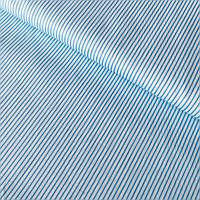 Сатин з тонкою блакитною смужкою на блакитному, ширина 160 см, фото 1