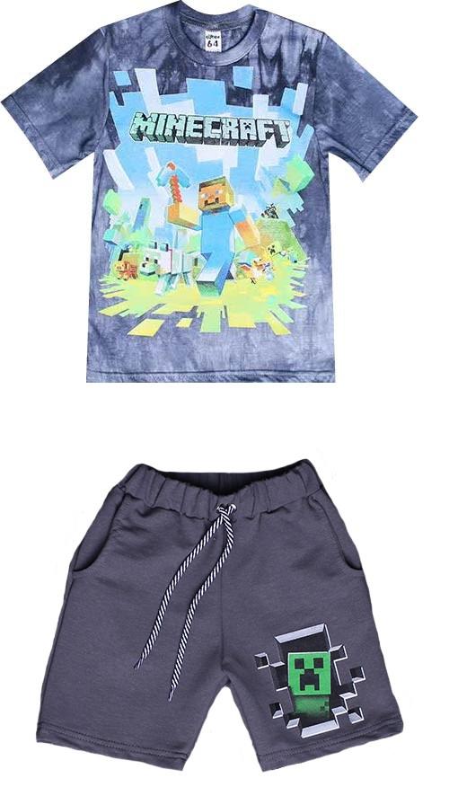 Комплект футболка + шорти Майнкрафт 122