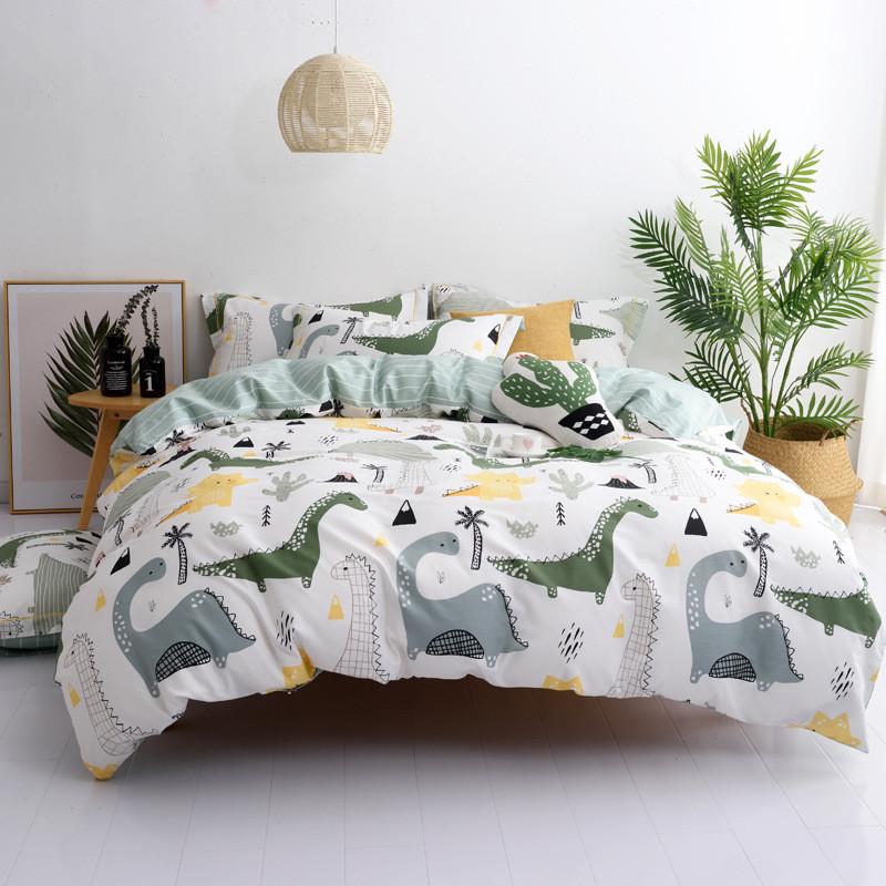 Комплект постільної білизни Динозаври (двоспальний євро) Berni Home
