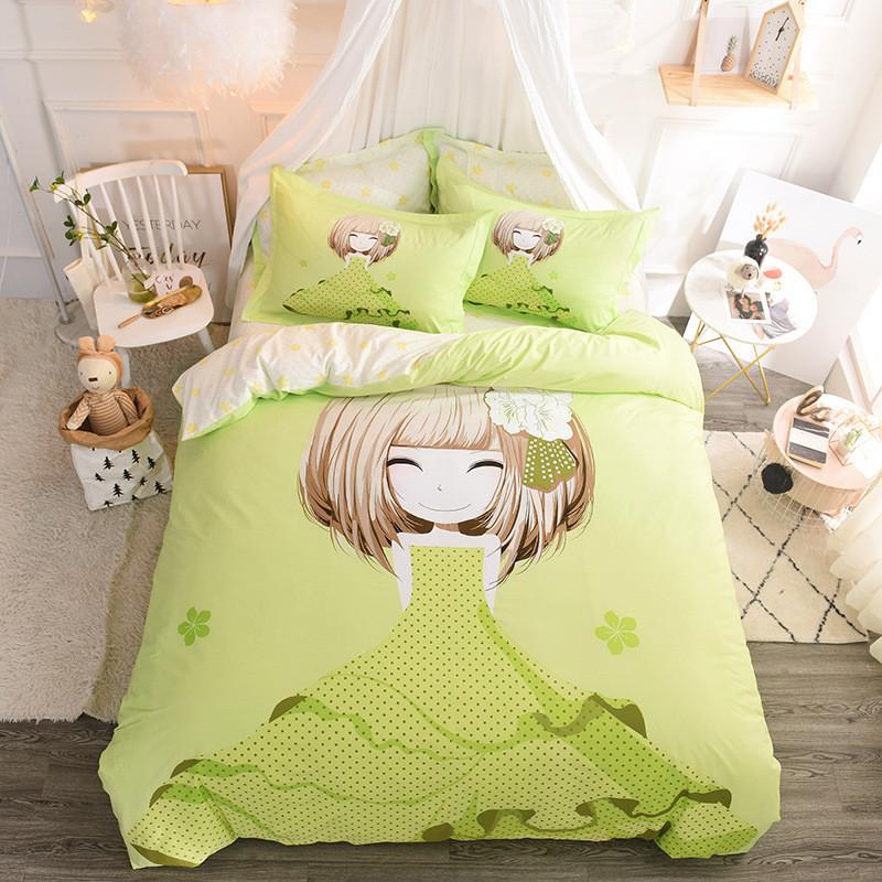 Комплект постільної білизни Дівчинка і азалія (двоспальний євро) Berni Home