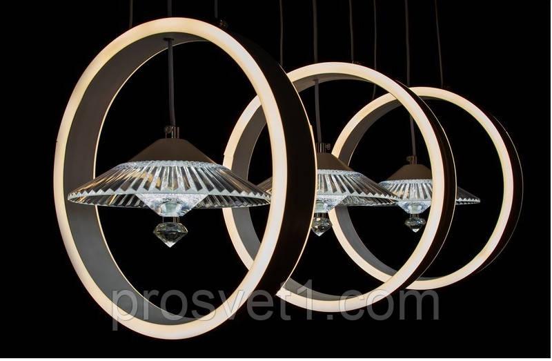 Світлодіодна люстра підвісна 9315-3 ЛЗ