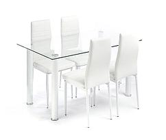 Комплект кухонной мебели стол и 4 кресла белый