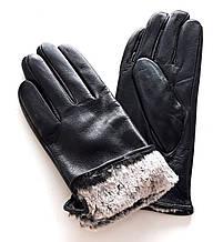 Шкіряні жіночі перчатки Ginge, кролик (6,5-8,5) чорні