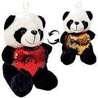 """Мягкая игрушка """"Панда с пайетками"""" 54625, звук, 25 см"""