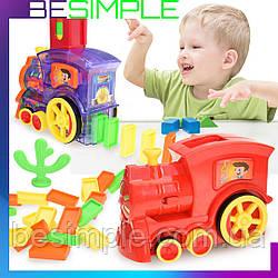 Розвиваюча іграшка поїзд-доміно DOMINO Happy Truck 100 деталей