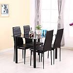 Комплект кухонной мебели стол и 4 кресла Panana черный, фото 2