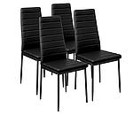 Комплект кухонной мебели стол и 4 кресла Panana черный, фото 4