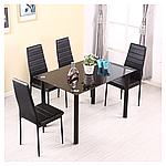 Комплект кухонной мебели стол и 4 кресла Panana черный, фото 3