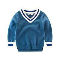 Пуловер для мальчика Синяя полоска, синий 27 KIDS (90)