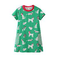 Платье для девочки Собачки Jumping Meters (7 лет)