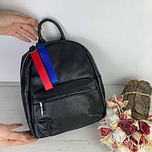 Рюкзак цветная застежка / натуральная кожа (2863) -с36 Черный