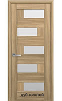 Двері міжкімнатні Ностра Піана Новий Стиль ПВХ зі склом сатин 60, 70, 80, 90