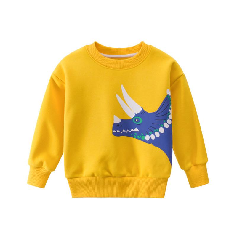 Свитшот для мальчика утепленный Трицератопс 27 KIDS (90)