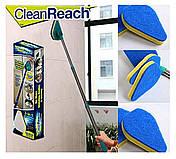 Щетка-швабра Clean Reach с тремя насадками, фото 3