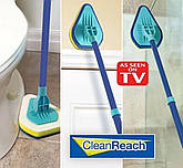 Щетка-швабра Clean Reach с тремя насадками, фото 2