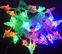Гирлянда елочная светодиодная: 28 диодов 3D, прозрачный провод