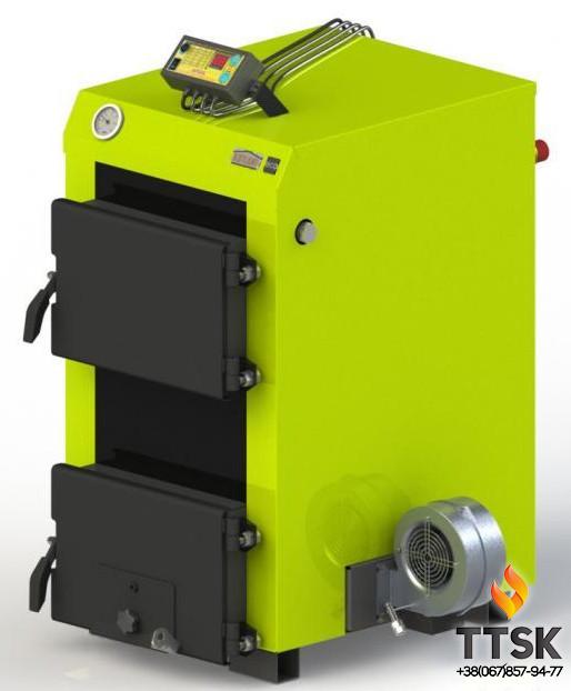Твердотопливный котел Kotlant КЭ-14 с электронной автоматикой и вентилятором