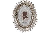 Рамка для фото овальная, 22.5см, цвет - шампанское серебро, размер фото - 10*15см BonaDi 450-192