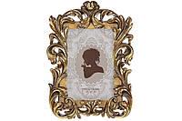 Рамка для фото прямоугольная, 24см, цвет - золотой, размер фото - 10*15см BonaDi 450-197