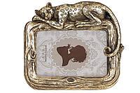 Рамка для фото прямоугольная Гепард, 20.5см, цвет - состаренный золотой, размер фото - 10*15см BonaDi 450-199