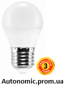 Светодиодная лампа сферическая, LEDEX 6W E27 220V 4000V (LB143)