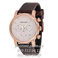 Кварцевые наручные часы с хронографом Emporio Armani ar1735 gold