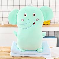 М'яка іграшка - подушка з пледом Плюшевий слон, 50см Berni Kids