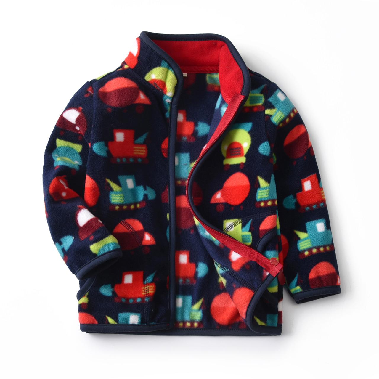 Кофта для мальчика флисовая Разноцветные машины Berni Kids (90)
