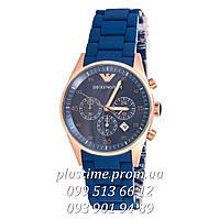 Кварцевые часы Emporio Armani ar5806 blue с хронографом